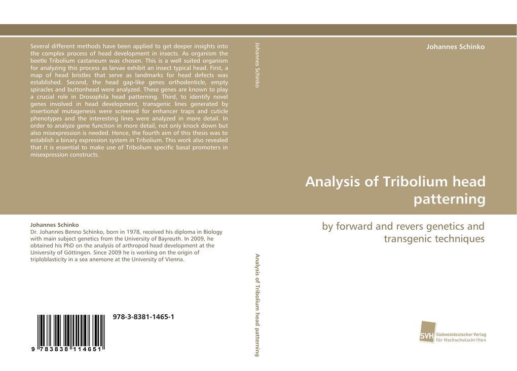 Analysis of Tribolium head patterning als Buch (kartoniert)
