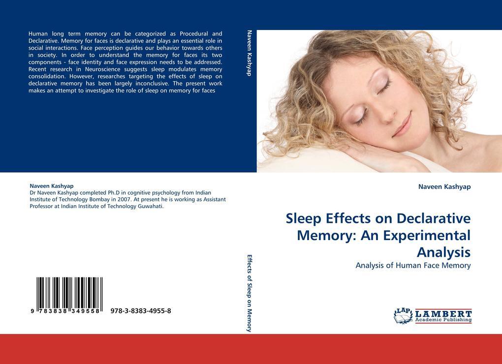 Sleep Effects on Declarative Memory: An Experimental Analysis als Buch (kartoniert)