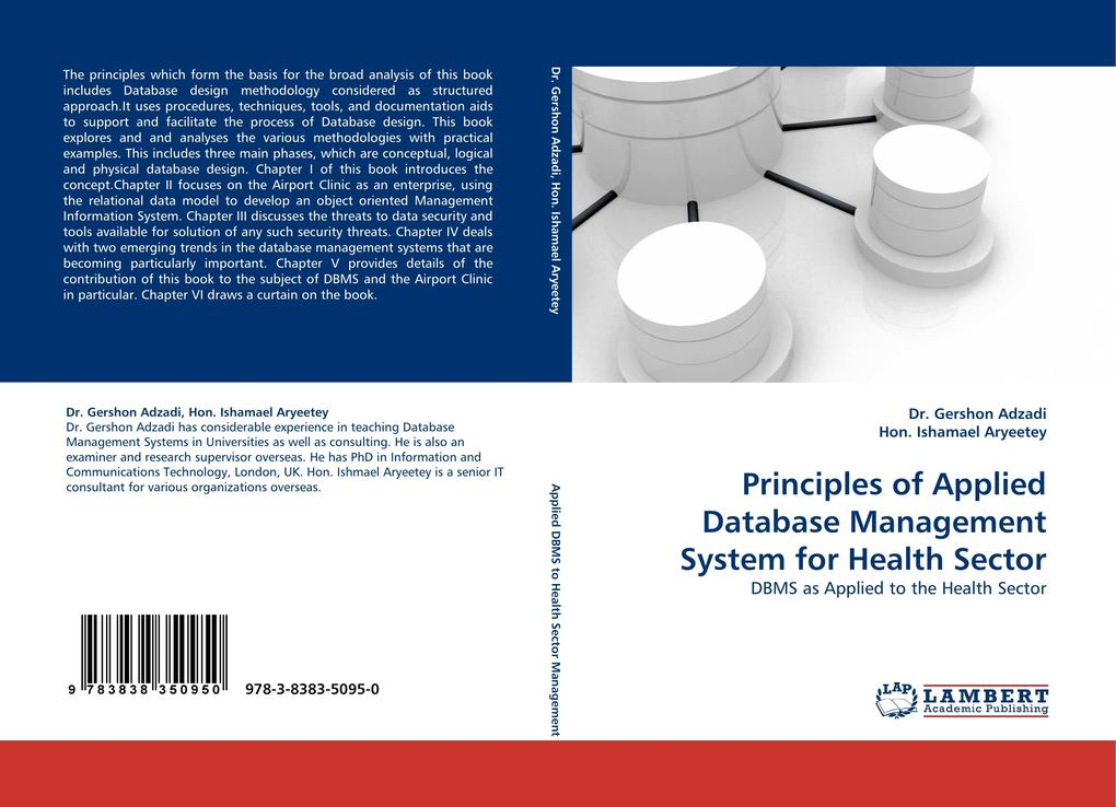 Principles of Applied Database Management System for Health Sector als Buch (kartoniert)