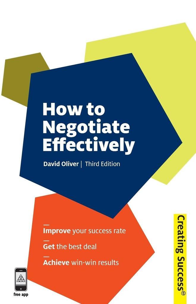 How to Negotiate Effectively als Buch (gebunden)