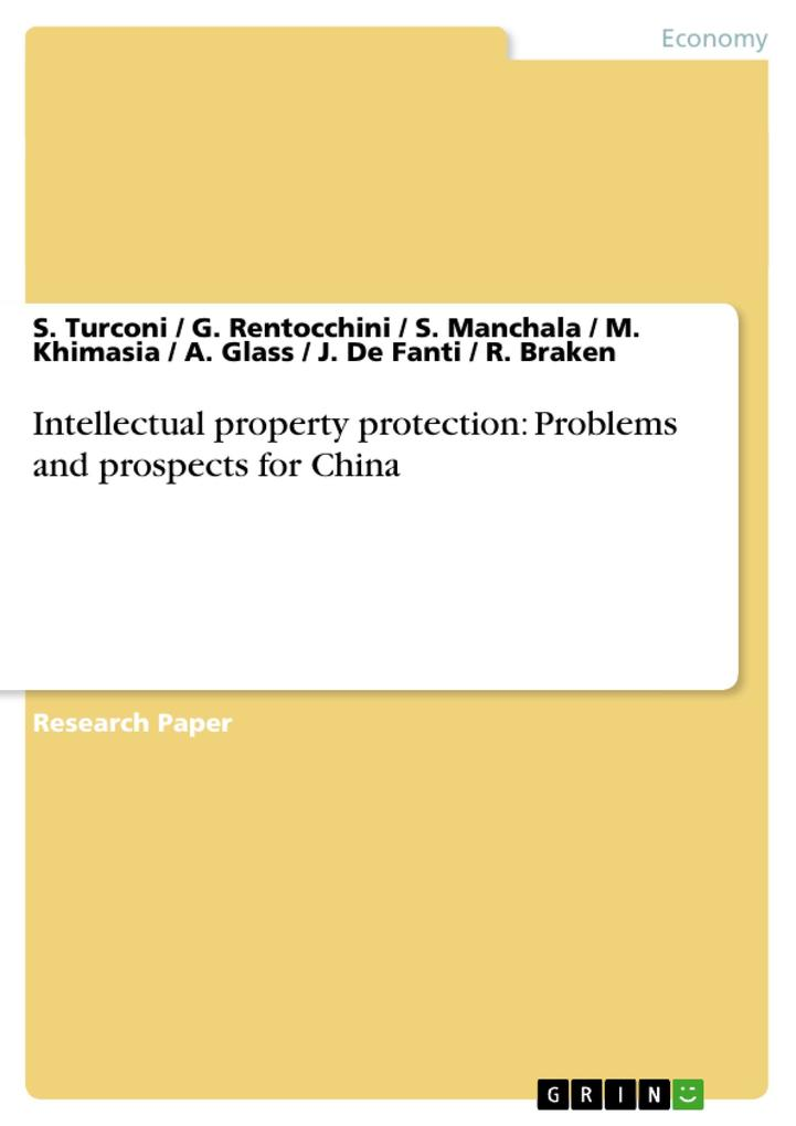 Intellectual property protection: Problems and prospects for China als Buch (kartoniert)