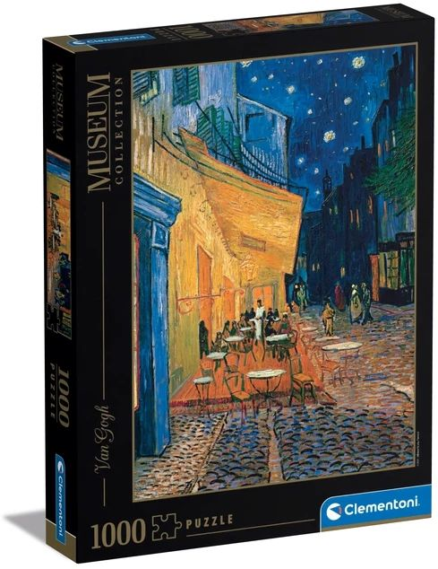 Clementoni - Museum Collection - Van Gogh - Caféterrasse bei Nacht, 1000 Teile als Spielware