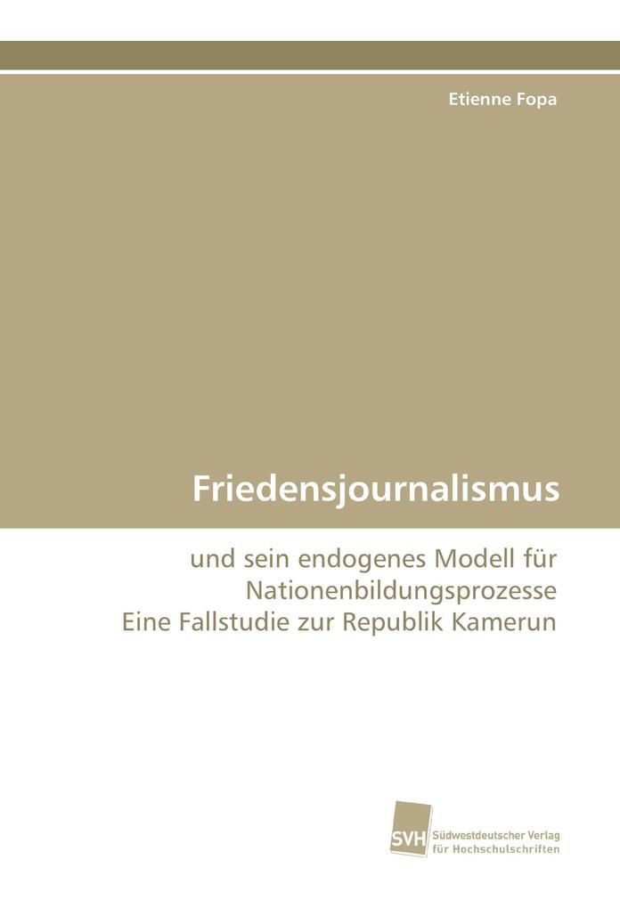 Friedensjournalismus als Buch (kartoniert)