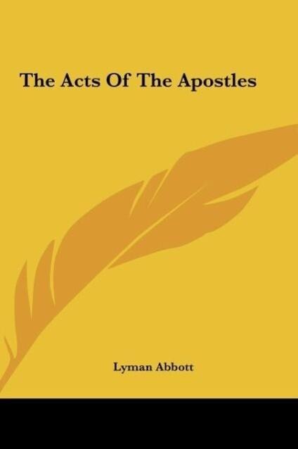 The Acts Of The Apostles als Buch (gebunden)