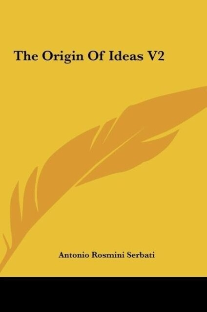 The Origin Of Ideas V2 als Buch (gebunden)