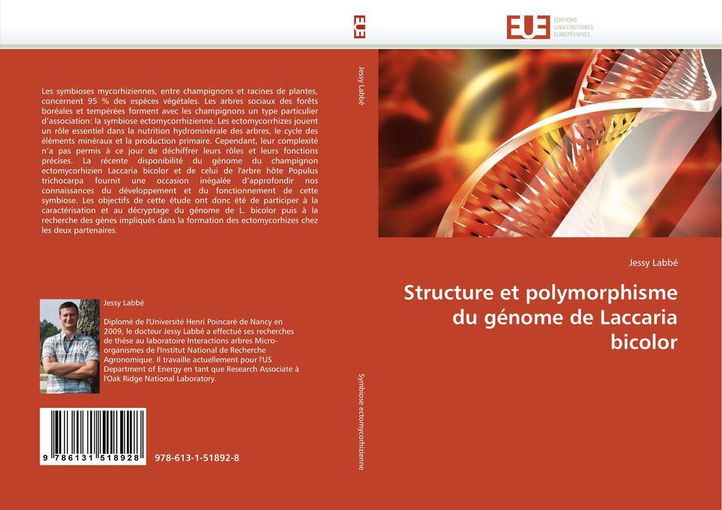 Structure Et Polymorphisme Du Génome de Laccaria Bicolor als Taschenbuch