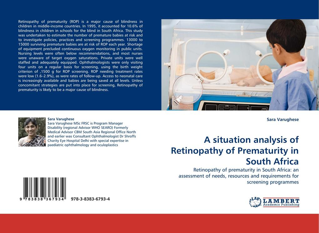 A situation analysis of Retinopathy of Prematurity in South Africa als Buch (kartoniert)