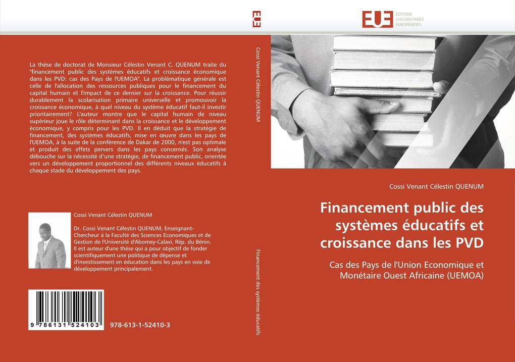 Financement Public Des Systèmes Éducatifs Et Croissance Dans Les Pvd als Taschenbuch