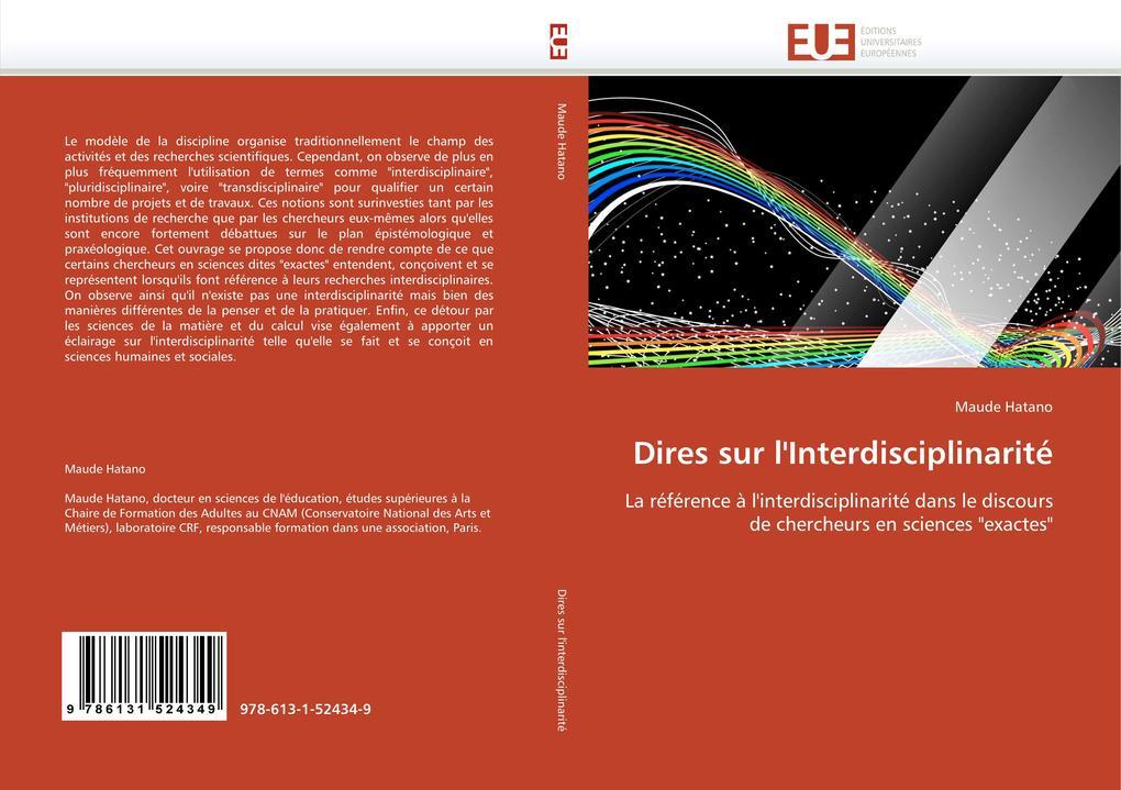Dires Sur l''interdisciplinarité als Taschenbuch