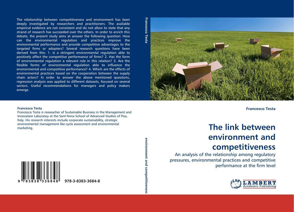 The link between environment and competitiveness als Buch (kartoniert)