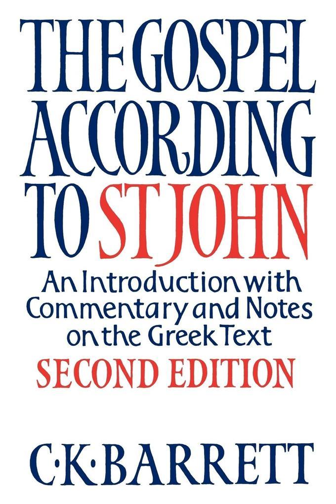 The Gospel According to St John als Taschenbuch