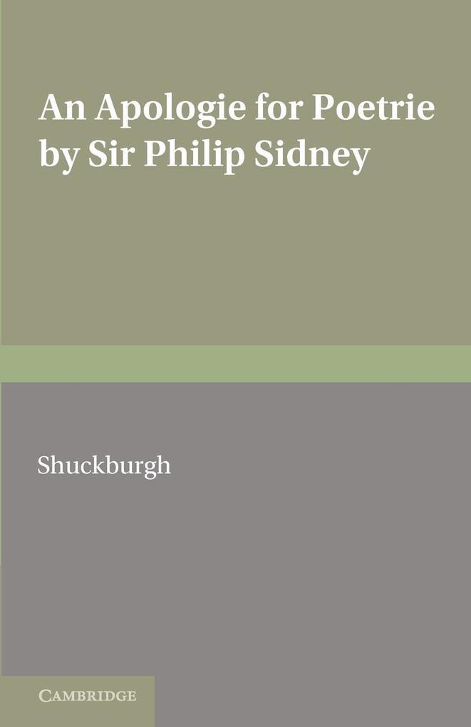 An Apologie for Poetrie by Sir Philip Sidney als Taschenbuch