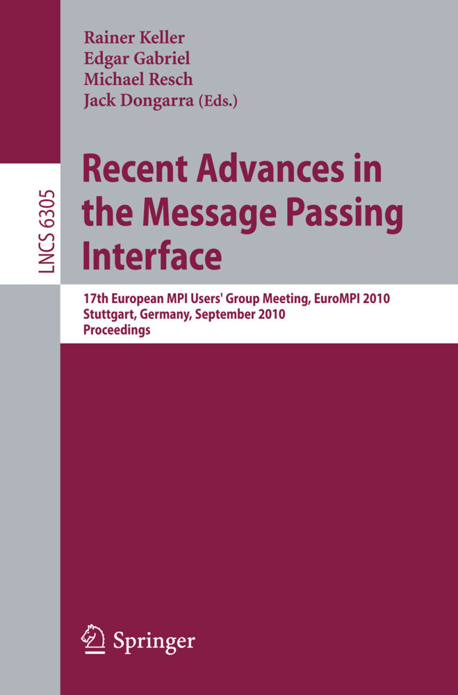 Recent Advances in the Message Passing Interface als Buch (kartoniert)