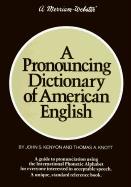 A Pronouncing Dictionary of American English als Buch (gebunden)