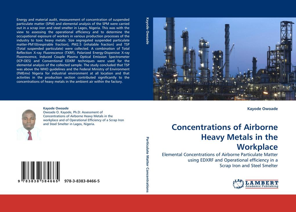 Concentrations of Airborne Heavy Metals in the Workplace als Buch (kartoniert)