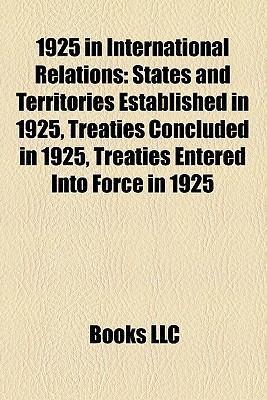 1925 in international relations als Taschenbuch