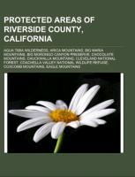 Protected areas of Riverside County, California als Taschenbuch