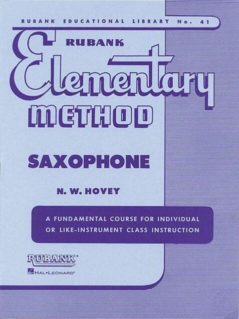 Rubank Elementary Method Saxophone als Taschenbuch