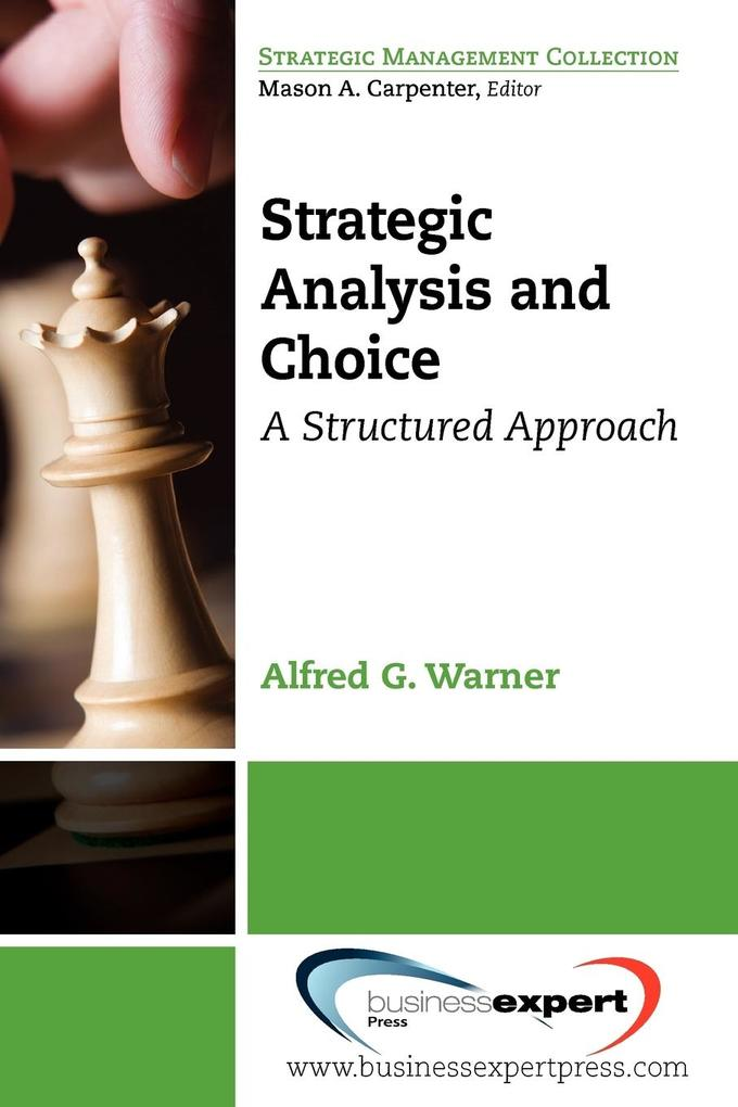 Strategic Analysis and Choice als Taschenbuch
