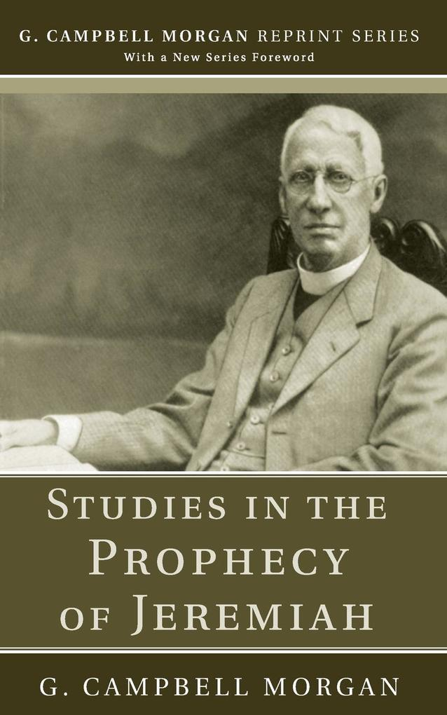 Studies in the Prophecy of Jeremiah als Taschenbuch