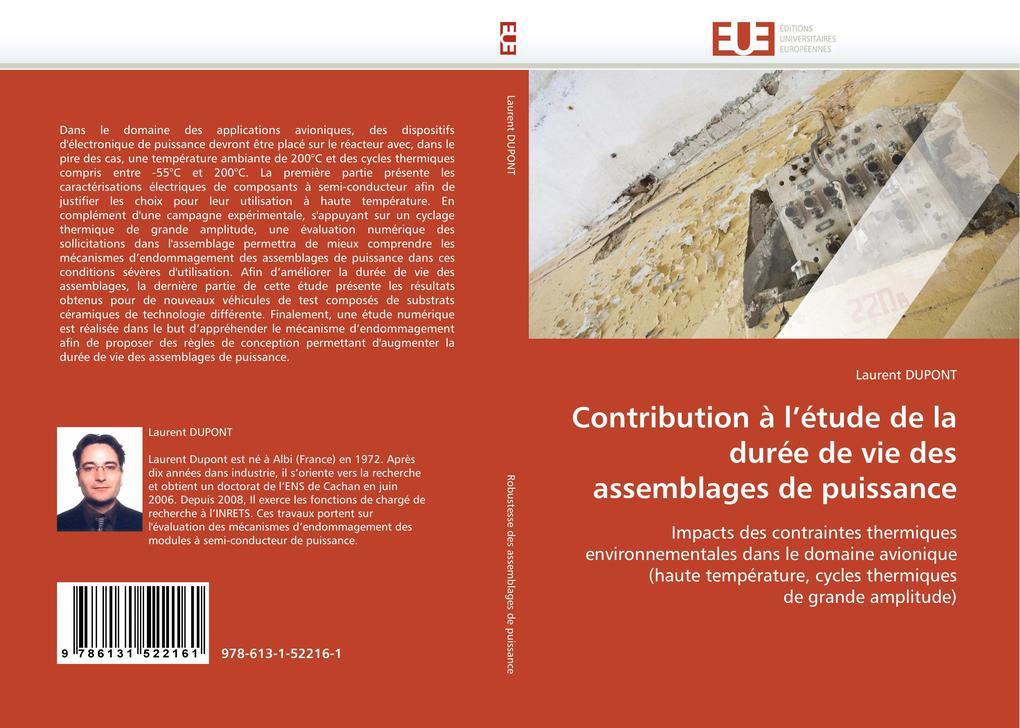 Contribution À l''étude de la Durée de Vie Des Assemblages de Puissance als Taschenbuch