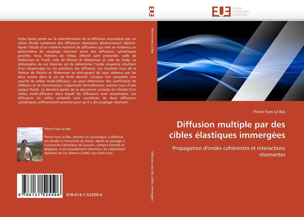 Diffusion multiple par des cibles élastiques immergées als Buch (kartoniert)