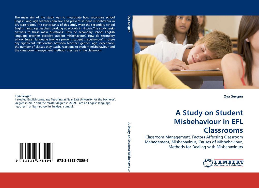 A Study on Student Misbehaviour in EFL Classrooms als Buch (kartoniert)