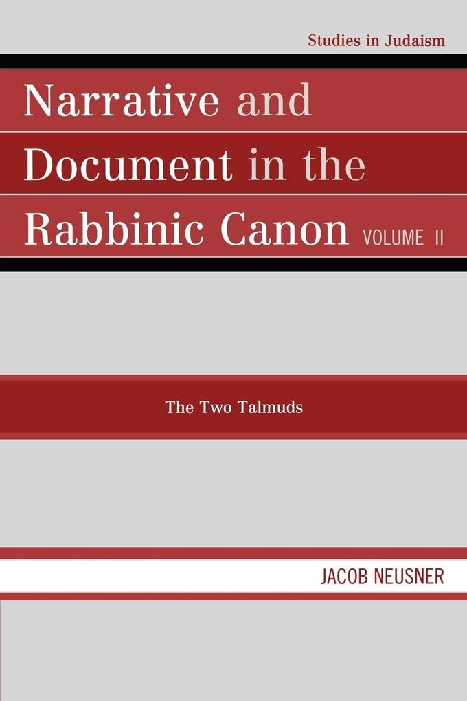 Narrative and Document in the Rabbinic Canon als Taschenbuch