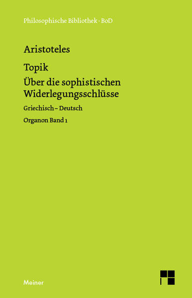 Organon / Organon. Band 1: Topik als Buch