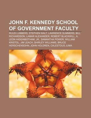 John F. Kennedy School of Government faculty als Taschenbuch