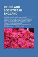 Clubs and societies in England als Taschenbuch