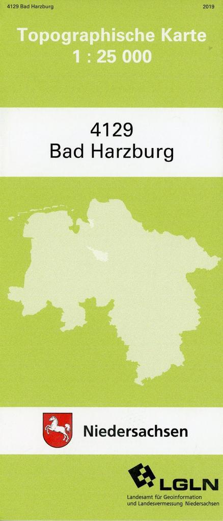 Bad Harzburg 1 : 25 000. (TK 4129) als Blätter und Karten