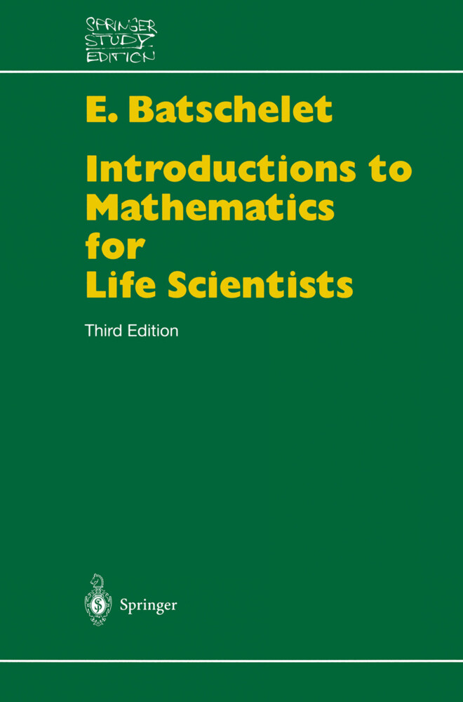Introduction to Mathematics for Life Scientists als Buch (kartoniert)
