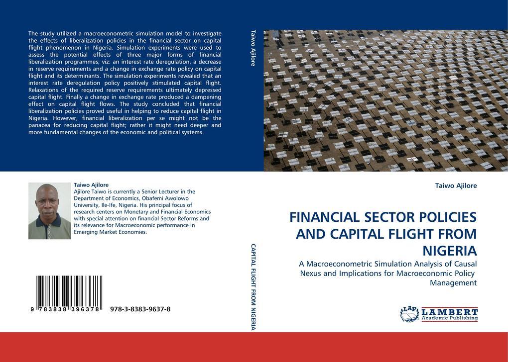 FINANCIAL SECTOR POLICIES AND CAPITAL FLIGHT FROM NIGERIA als Buch (kartoniert)