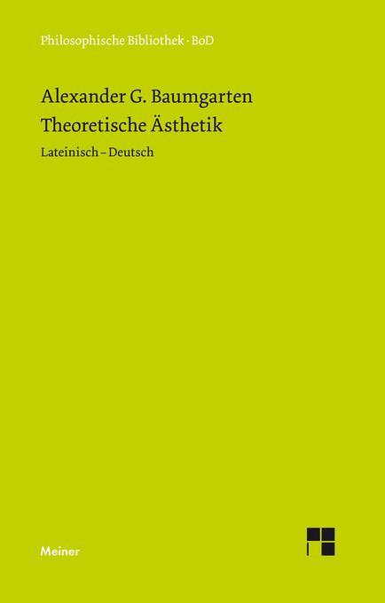 Theoretische Ästhetik als Buch (gebunden)