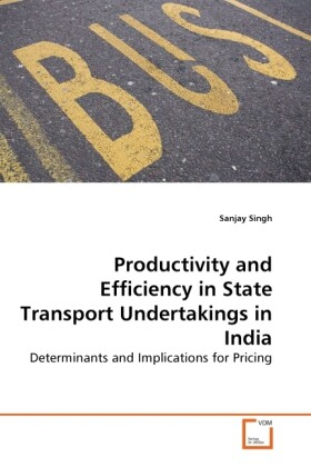 Productivity and Efficiency in State Transport Undertakings in India als Buch (gebunden)