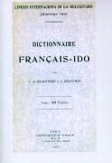Dictionnaire Francais - Ido als Buch (kartoniert)