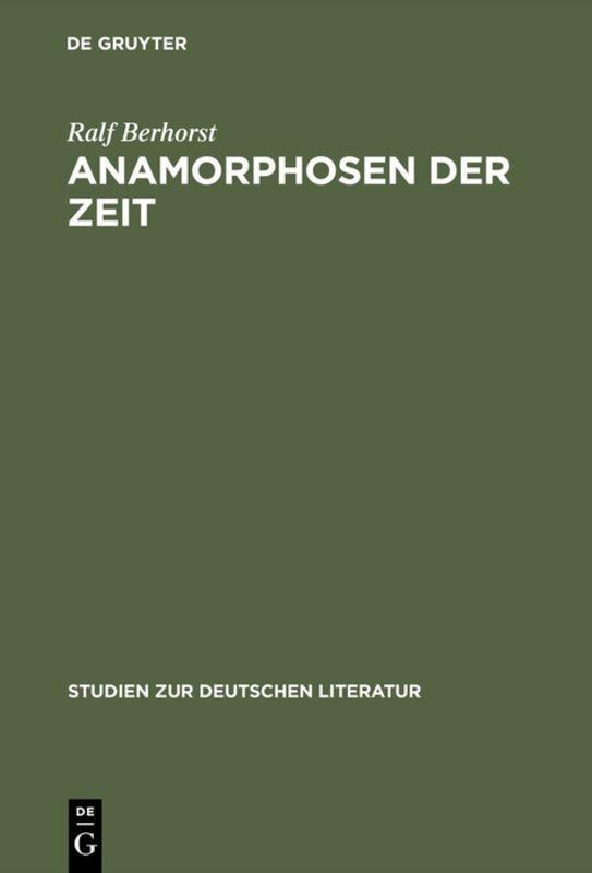 Anamorphosen der Zeit als Buch (gebunden)