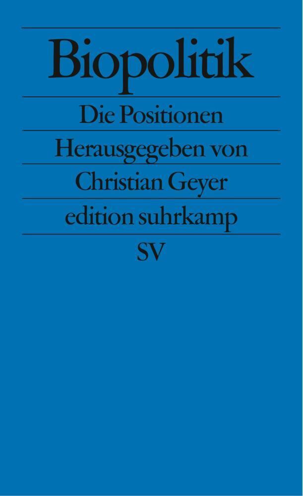 Biopolitik als Taschenbuch