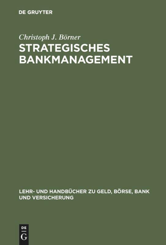 Strategisches Bankmanagement als Buch (gebunden)