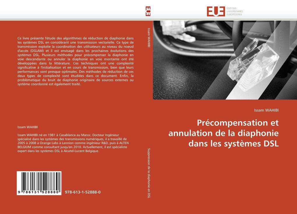 Précompensation Et Annulation de la Diaphonie Dans Les Systèmes DSL als Taschenbuch