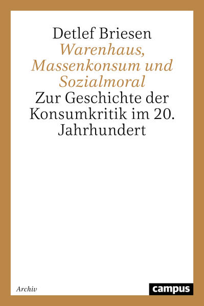 Warenhaus, Massenkonsum und Sozialmoral als Buch (kartoniert)