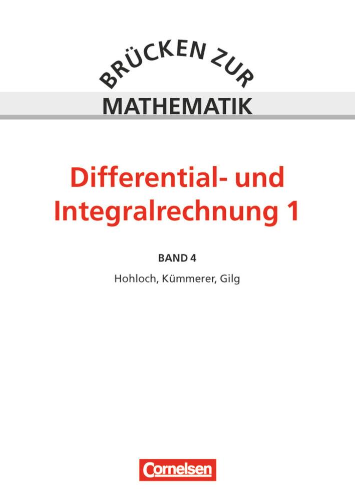 Differential- und Integralrechnung. Tl.1 als Buch (kartoniert)