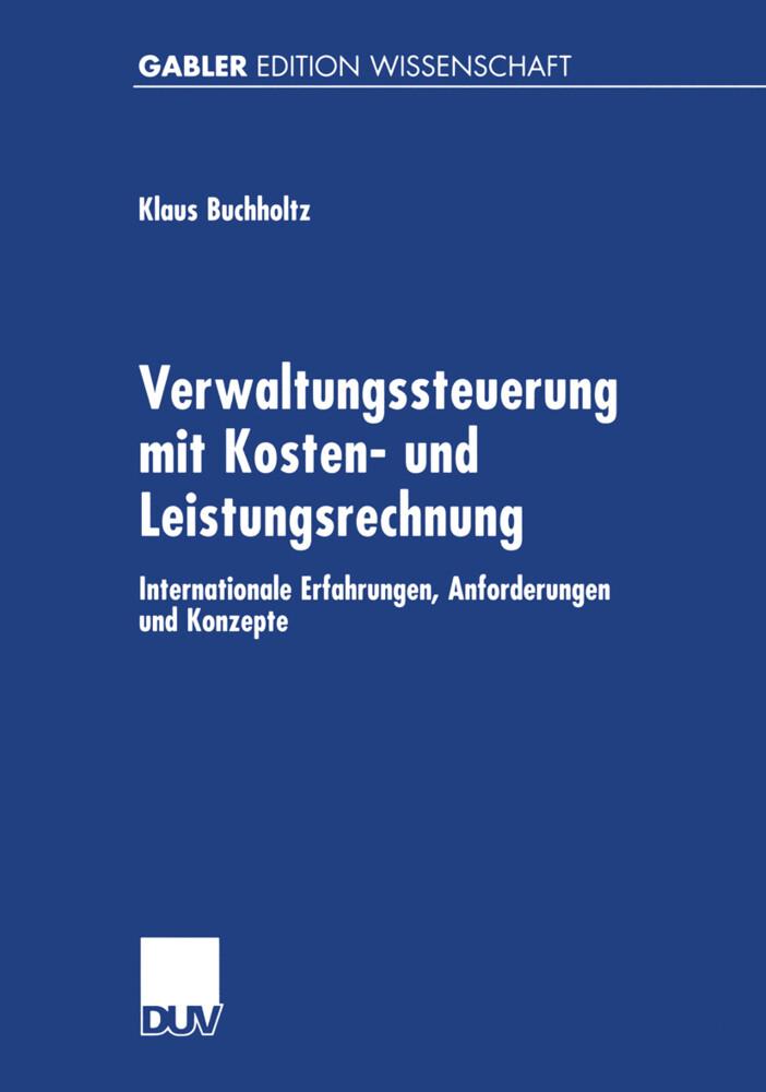 Verwaltungssteuerung mit Kosten- und Leistungsrechnung als Buch (kartoniert)