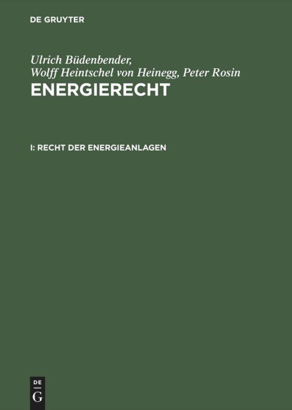 Recht der Energieanlagen als Buch (gebunden)