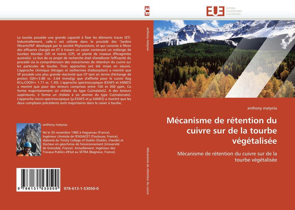 Mécanisme de rétention du cuivre sur de la tourbe végétalisée als Buch (kartoniert)