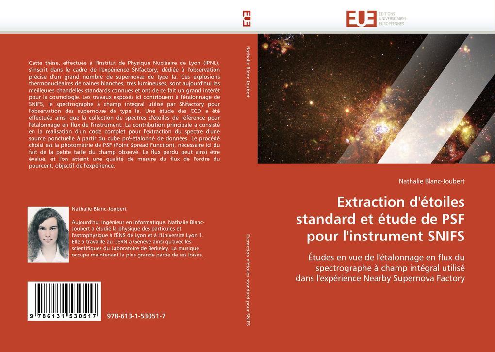 Extraction d'Étoiles Standard Et Étude de Psf Pour l'Instrument Snifs als Taschenbuch