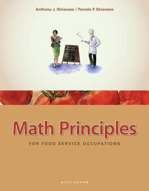 Math Principles for Food Service Occupations als Buch (gebunden)