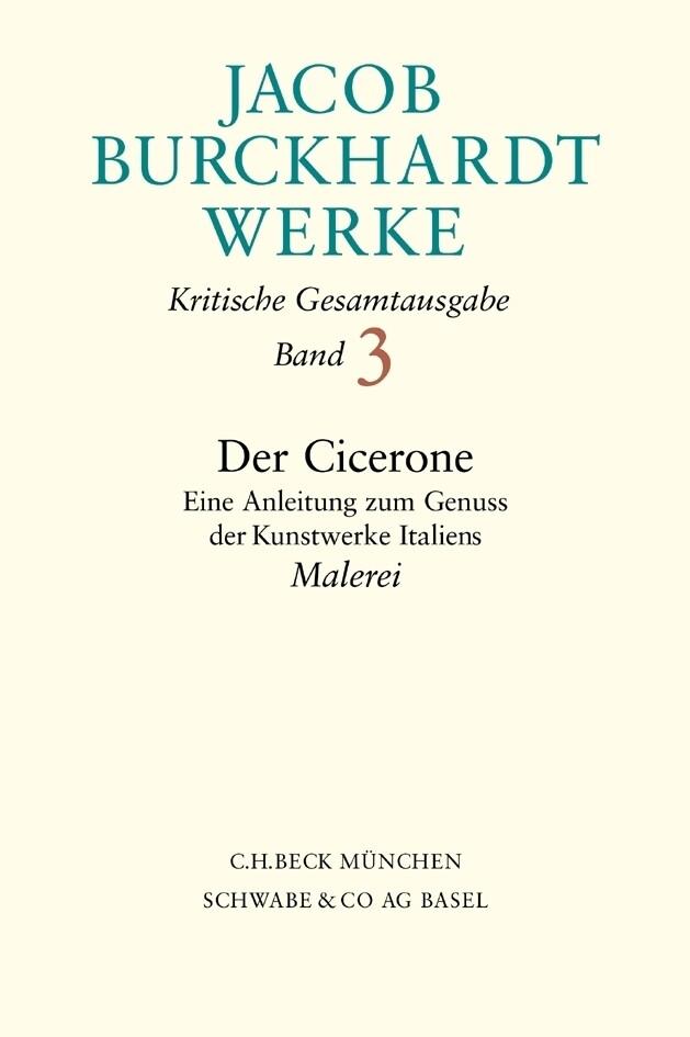Der Cicerone, Malerei als Buch (gebunden)