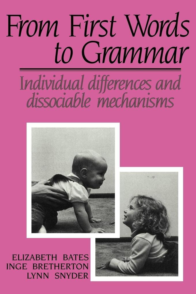 From First Words to Grammar als Taschenbuch